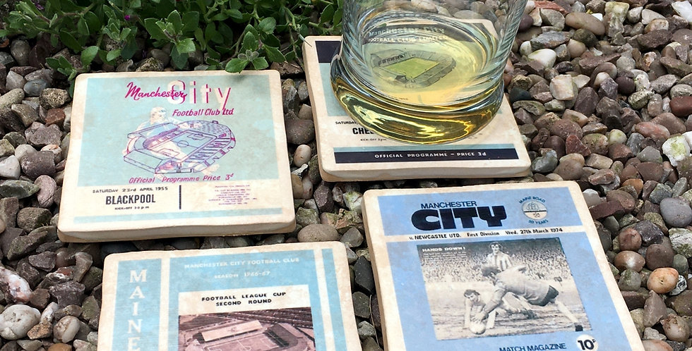 Manchester City Football Coasters