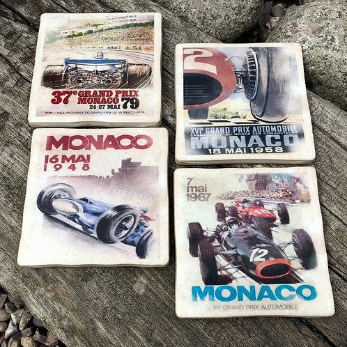 Monaco Grand Prix Coasters