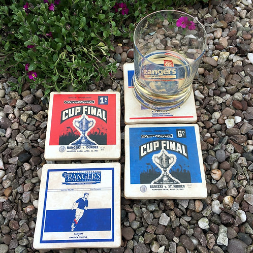 Rangers Football Coasters