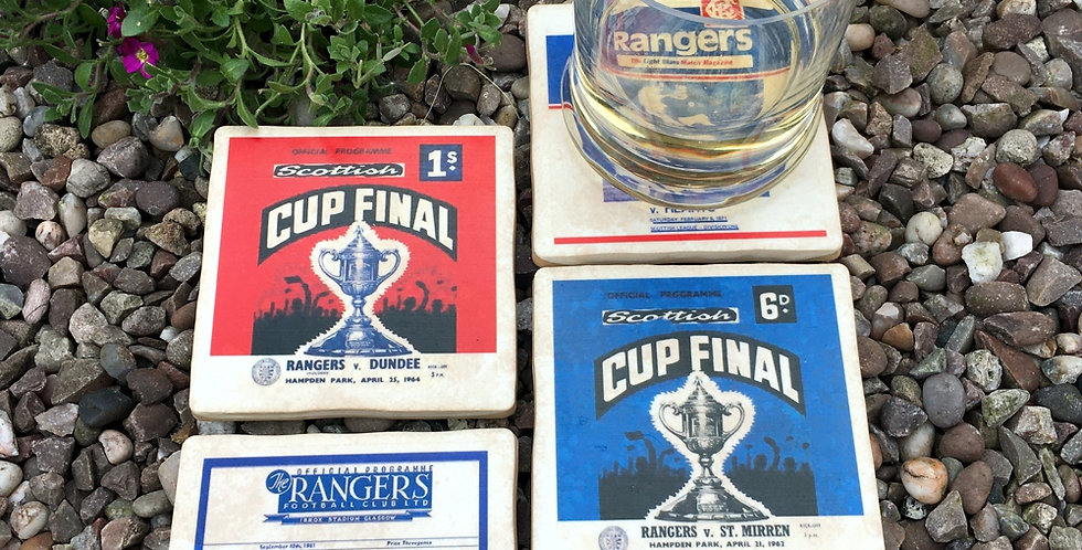 Rangers Football Coasters