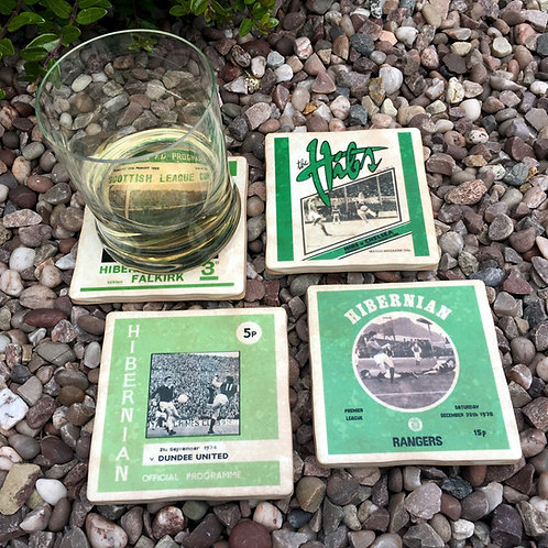 Hibernian Football Coasters
