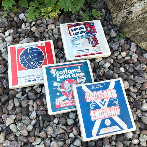 Scotland vs England Football Coasters