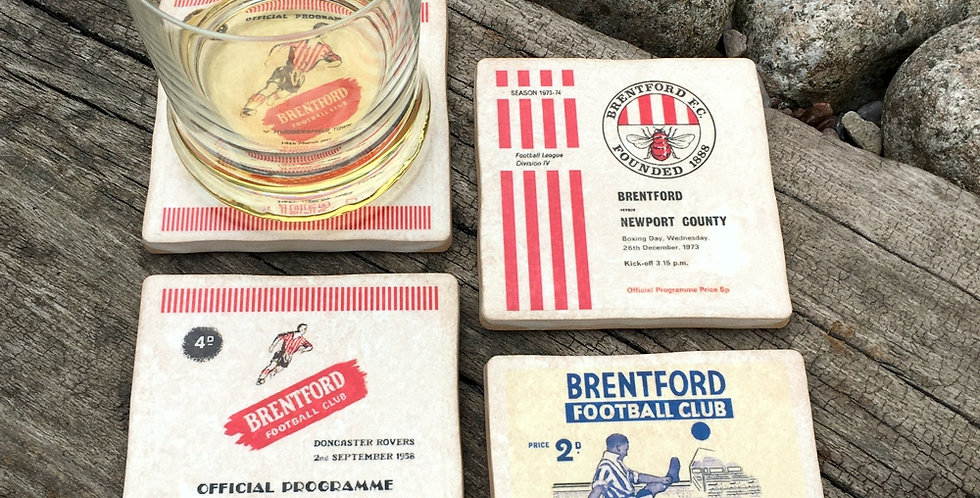 Brentford Football Coasters