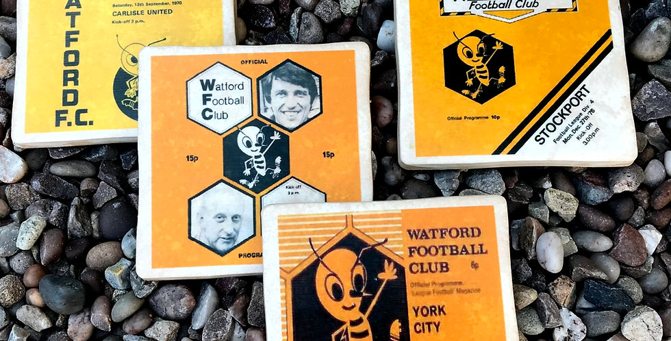 Watford Football Coasters