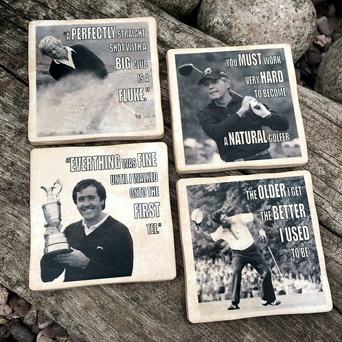 Golf Coasters - Famous Golfers & their Quotes