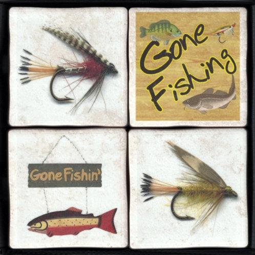 Fishing & Flies Coasters