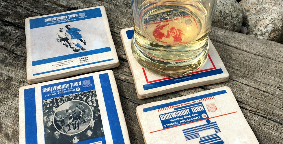 Shrewsbury Town Football Coasters