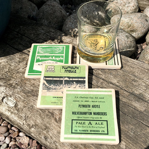 Plymouth Argyle Football Coasters
