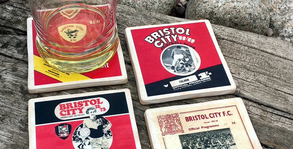 Bristol City Football Coasters