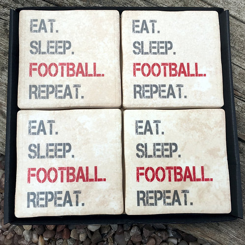 Football - Eat Sleep Repeat RED