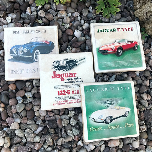 Jaguar Coasters - Vintage Posters