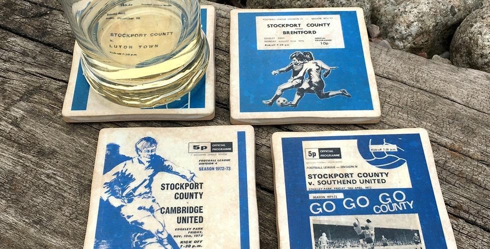 Stockport County Football Coasters