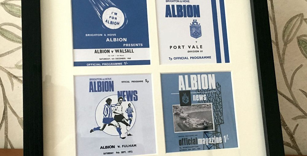 Brighton & Hove Albion Matchday Programme Framed Print