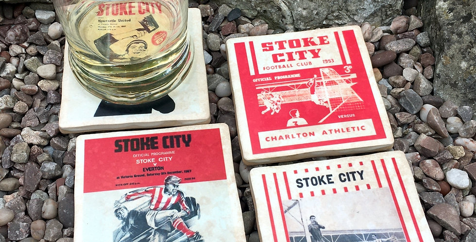 Stoke City Football Coasters