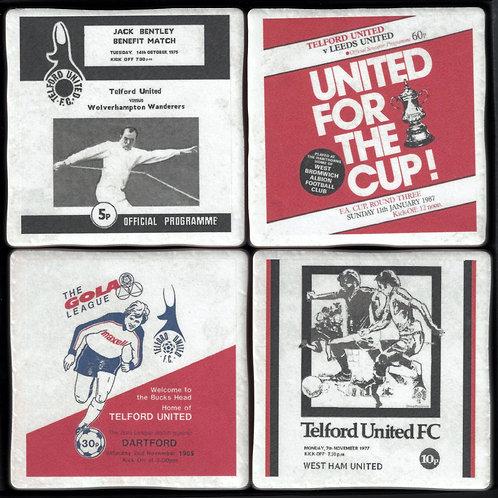 Telford United Football Coasters