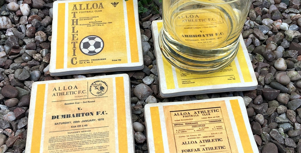 Alloa Athletic Football Coasters