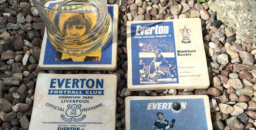 Everton Football Coasters