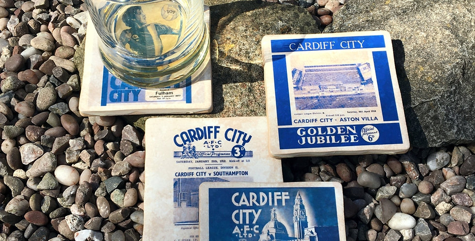 Cardiff City Football Coasters