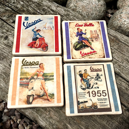 Vespa Coasters - Scooters