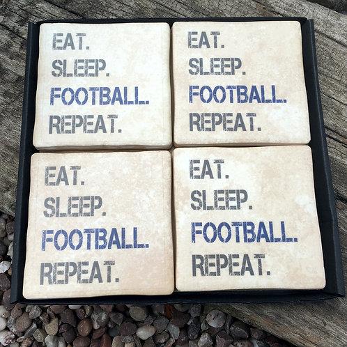 Football - Eat Sleep Repeat BLUE