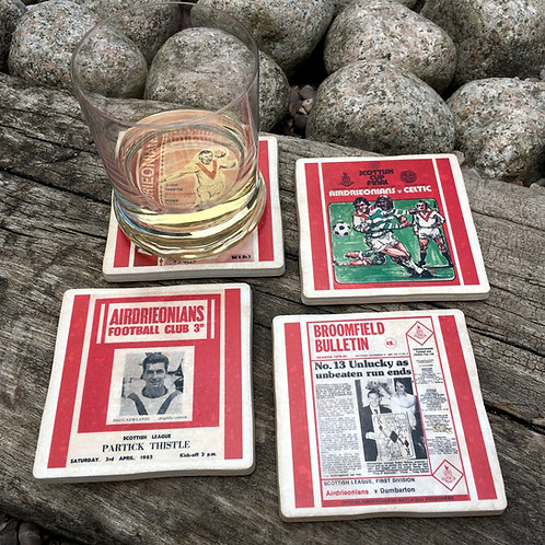 Airdrieonians Football Coasters