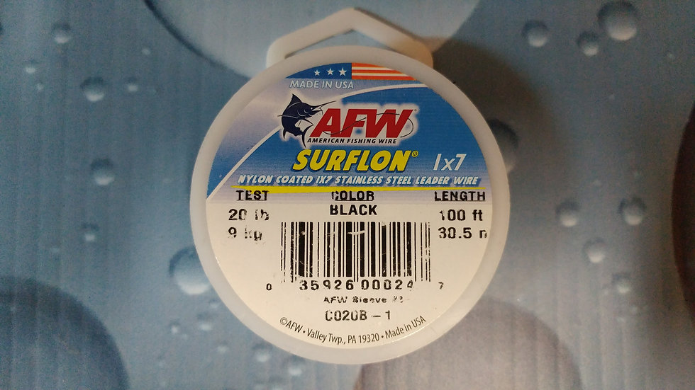 Nylon coated 1x7 Stainless steel wire 30.5m  20lb