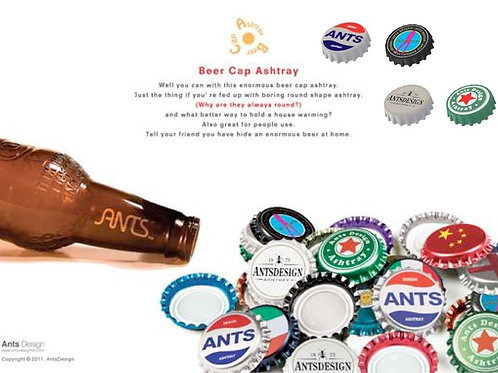 Silicone Beer Cap shape ashtray