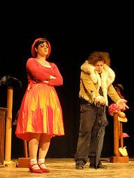Rosso ed il lupo Maurizio, teatro di onisio, cappuccetto rosso
