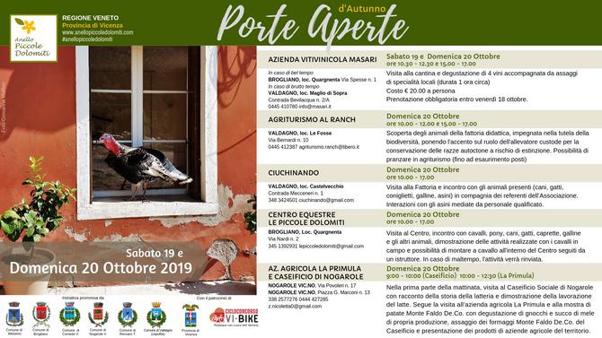 Porte Aperte - 19 e 20 ottobre 2019