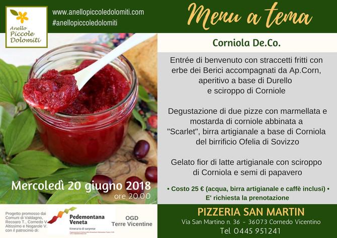 Menu a tema di giugno - Corniola De.Co.