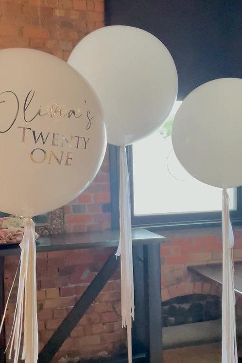 Jumbo  personalised balloons 60 cm