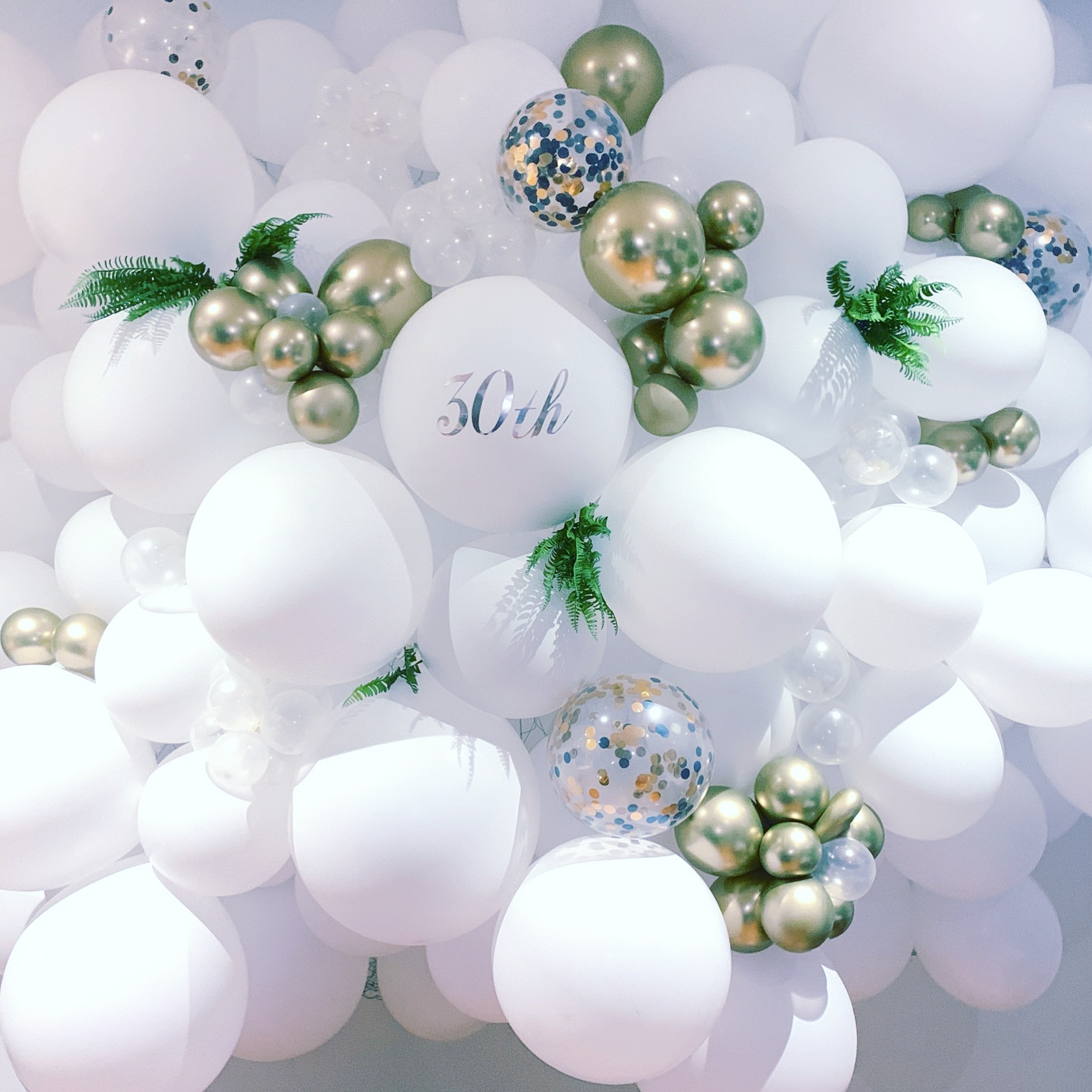 White balloon wall