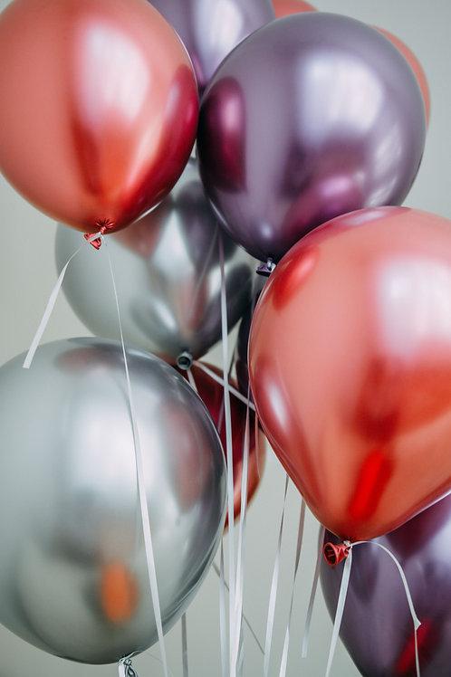 30 helium balloons