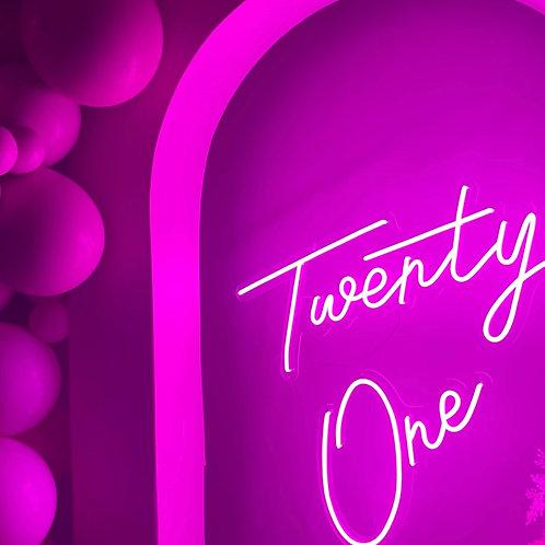 Neon Twenty One rental