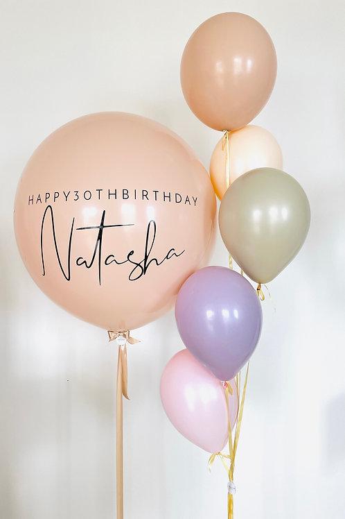 Personalised balloon birthday bouquet