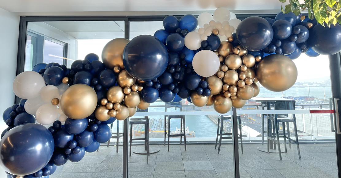 Corporate event balloon backdrop