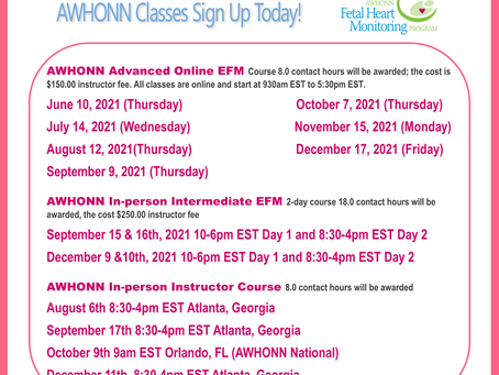 Awhonn Intermediate,Advanced and Instructor Course Sign up today!