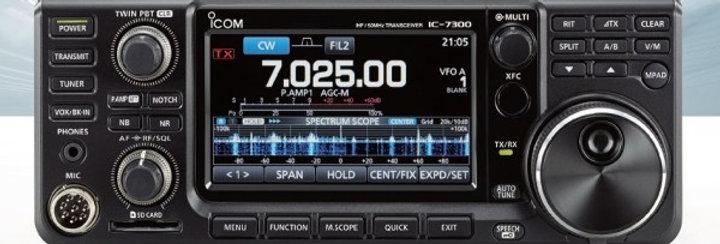 ICOM IC 7300 + ICOM SM 30 - (UFF. ADVANTEC)