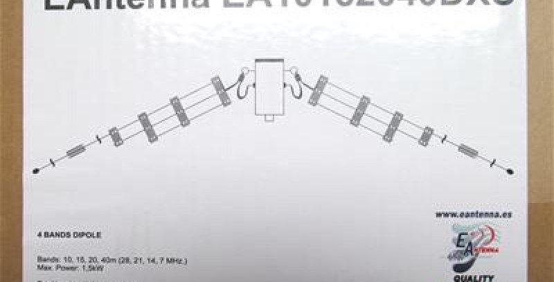 EAntenna EA10152040DXS - DIPOLO multibanda (10-15-20-40m)