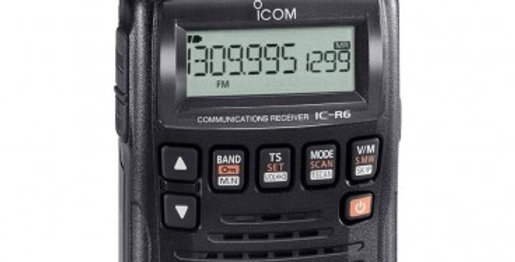 ICOM IC R 6 - SCANNER 0 a 1300 MHZ AM/FM