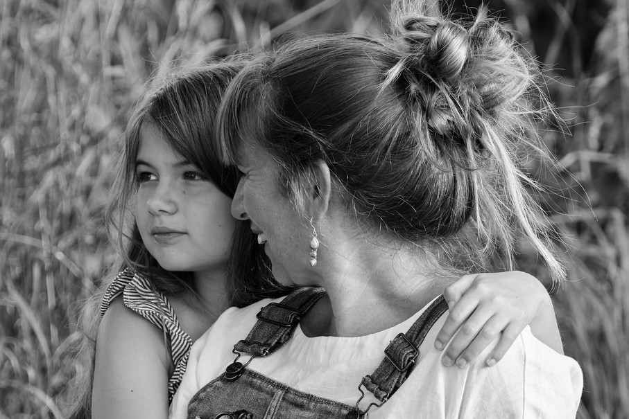 Outdoor mother and daughter-portrait Norwich,Norfolk