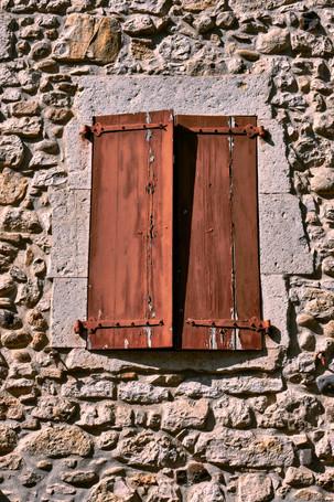 Rustic Window in the Ardeche