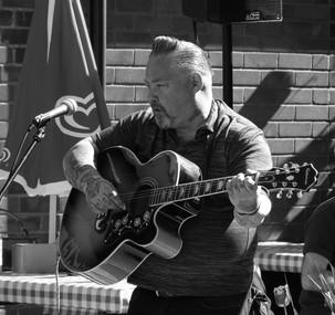 Musician at the Hemsby Rock n Roll festival in Norfolk