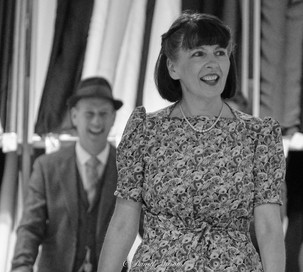 Vintage fashion show at the John Lewis store in Norwich