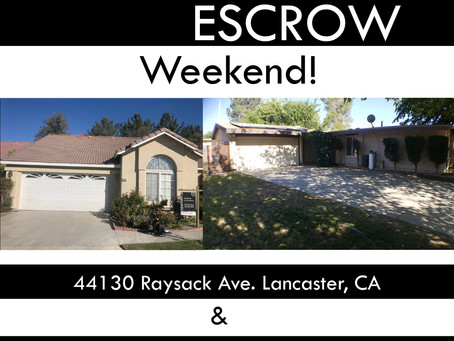 Double Escrow Weekend!