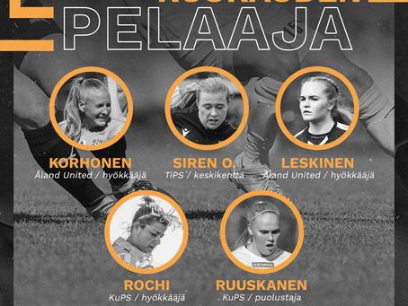 Två Åland Unitedspelare igen som kandidater till Månadens spelare.