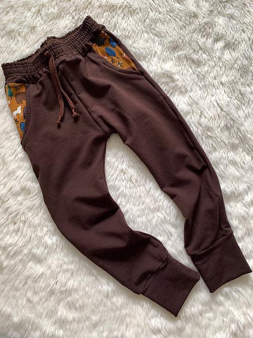 Brown Joggers/Woodland pocket