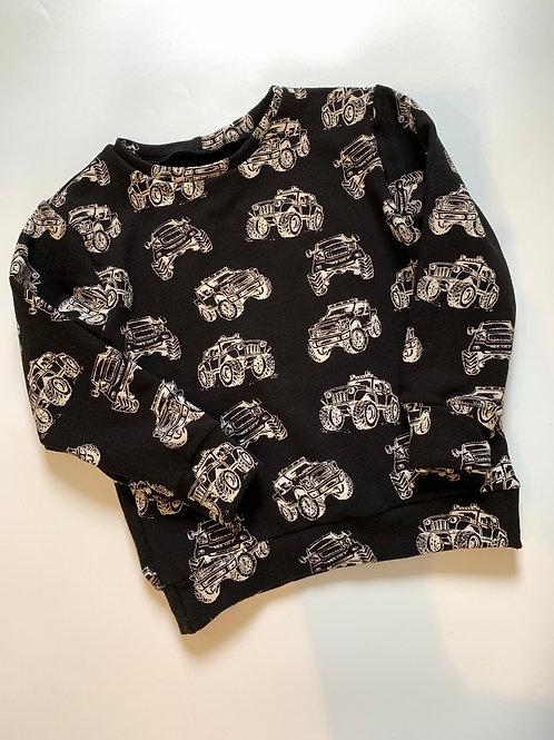 Black monster truck sweatshirt