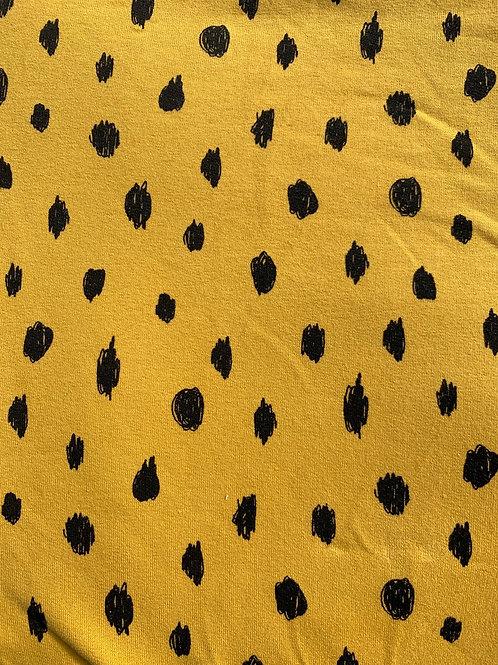 Paint Spot Romper- Mustard