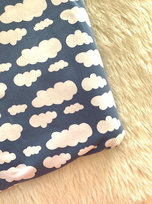 Big Kid denim blue cloud leggings